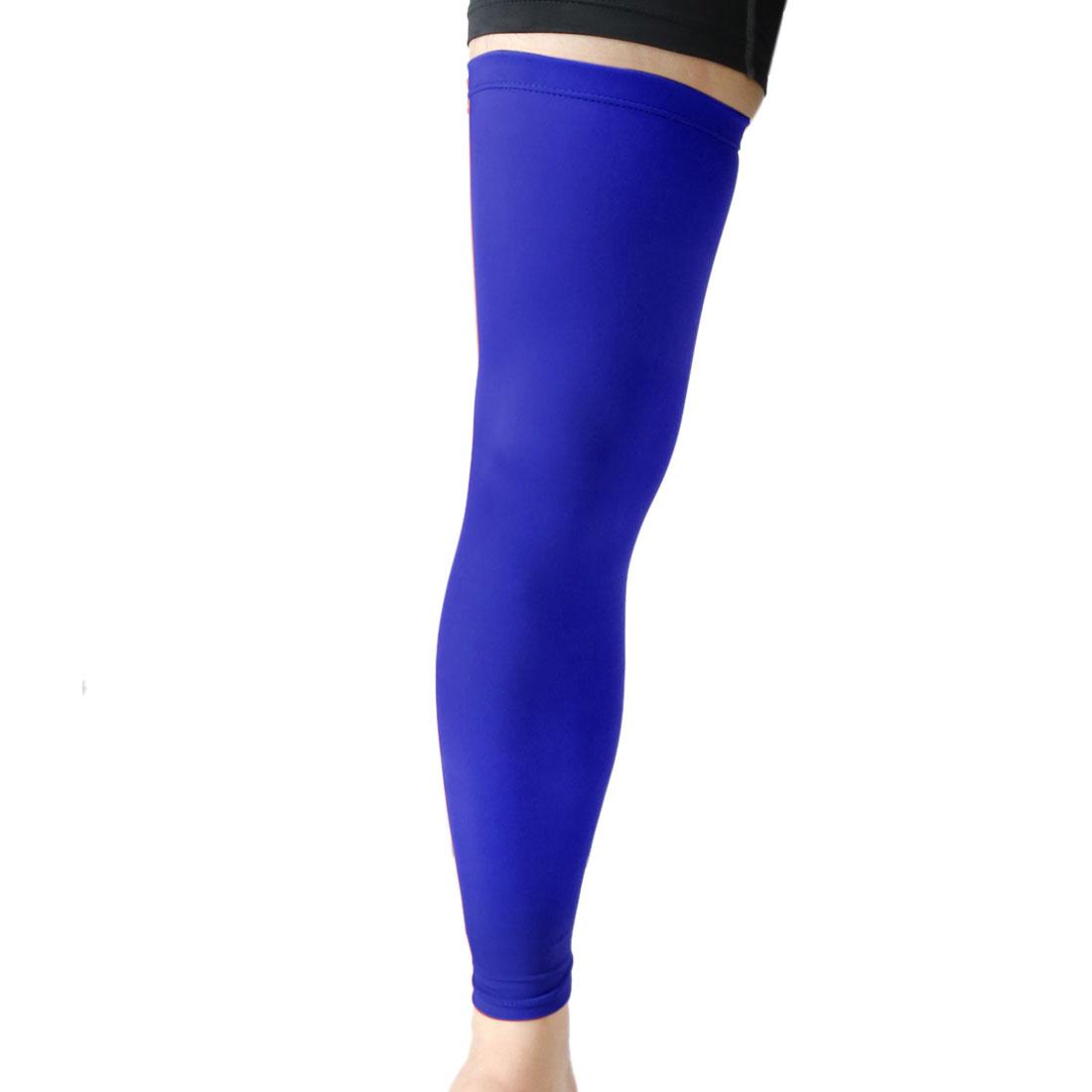 Blue XL Size Long Outdoor Sport Stretch Brace Leg Sleeve Knee Calf UV Protector - image 1 de 3