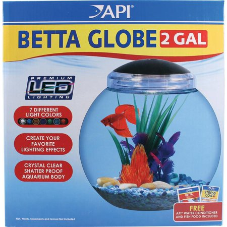 Betta globe aquarium kit for Betta fish tanks walmart
