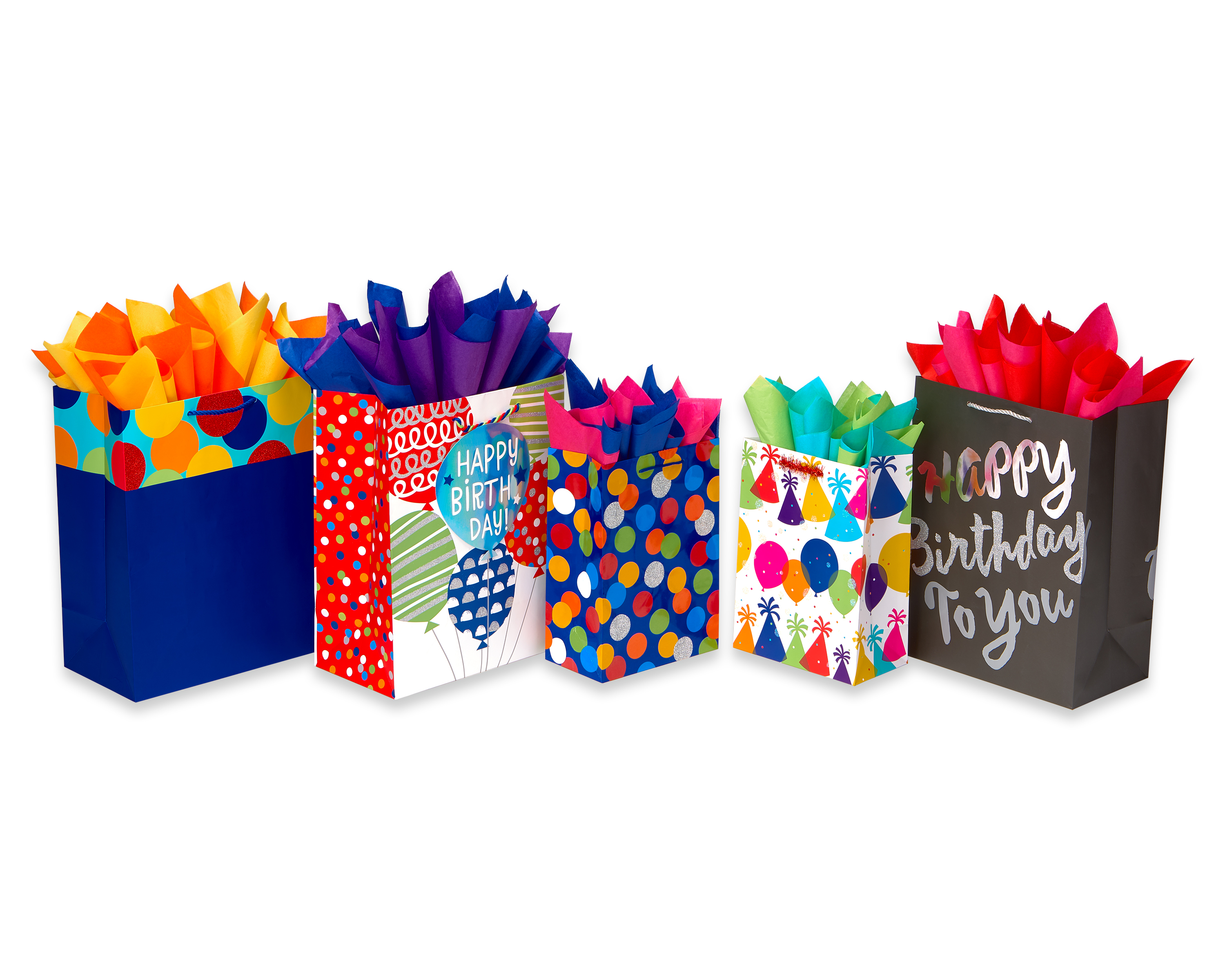 American Greetings Birthday Gift Bag And Tissue Paper Bundle 5ct