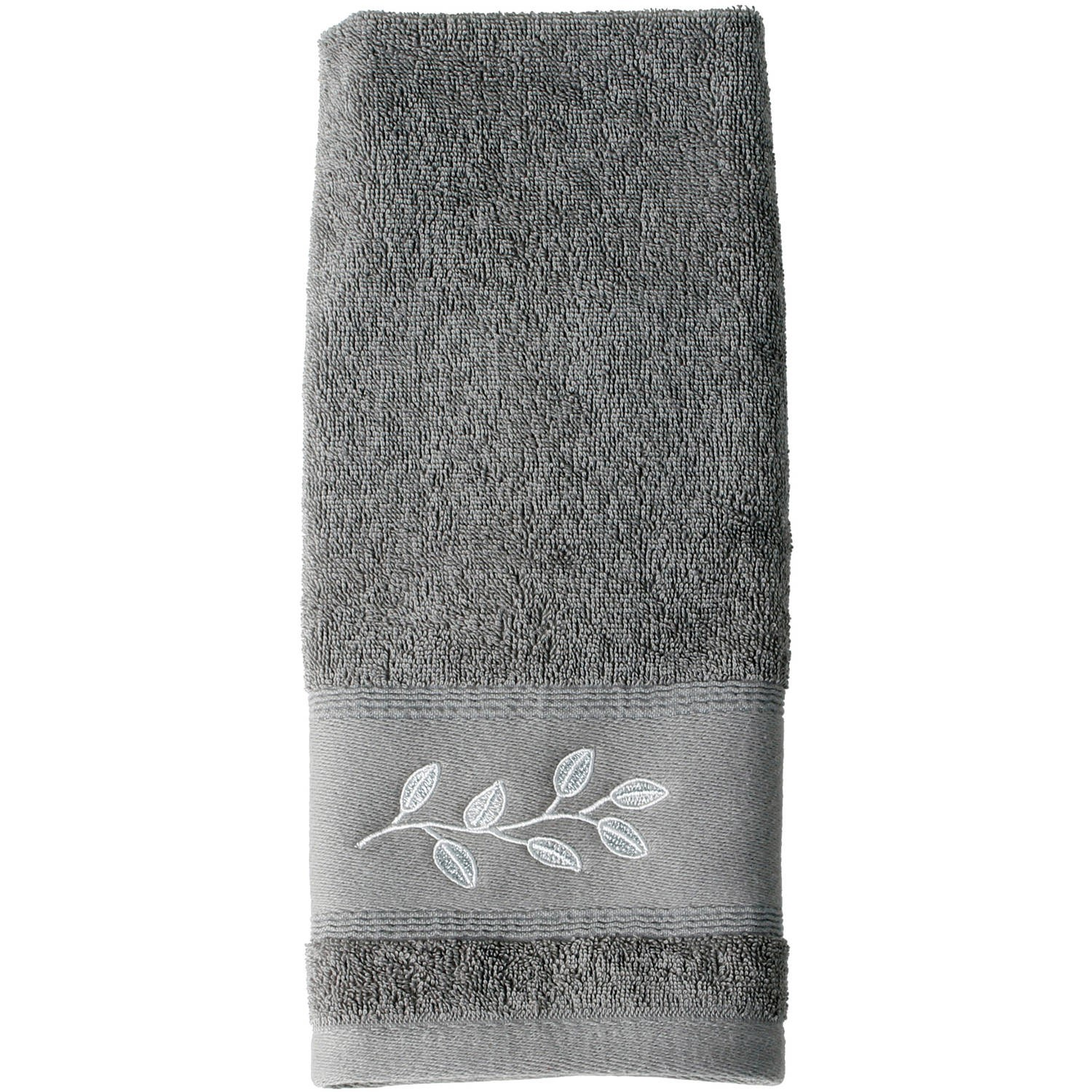 Mainstays Silver Leaves Bath Towel Collection by Saturday Knight LTD
