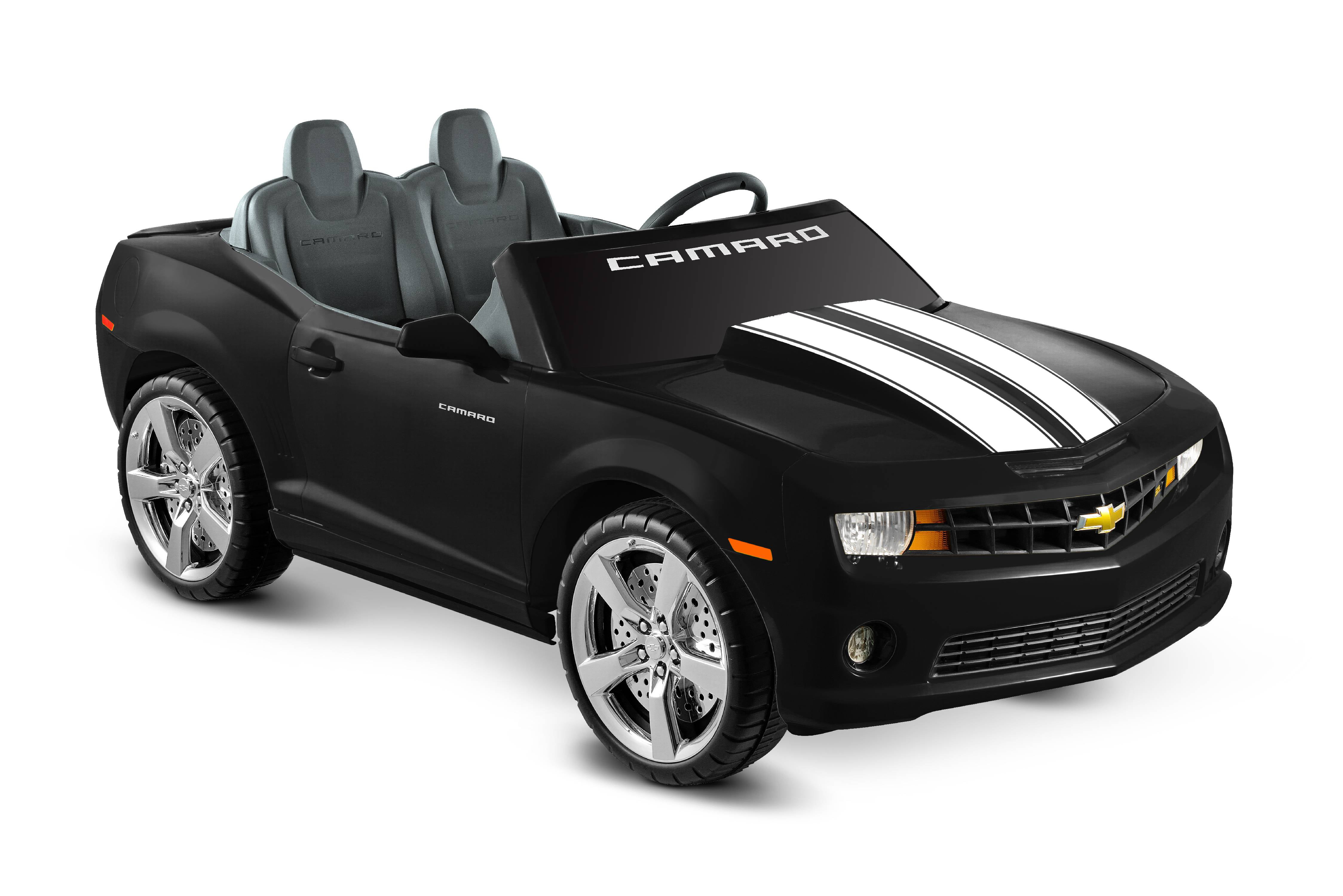 Kid Motorz Chevrolet Camaro 12-Volt Battery-Operated Ride-On, Black with Racing Stripes by National Products Limited