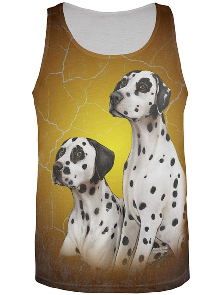 Dalmatians Live Forever All Over Adult Tank Top