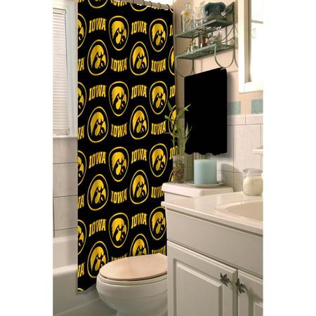 NCAA University of Iowa Shower Curtain, 1 Each