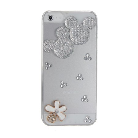 Mickey Mouse Sparkle Bling Crystal Diamond Back Case Cover for iPhone 5 5G 5S Crystal Mickey Mouse Rhinestone