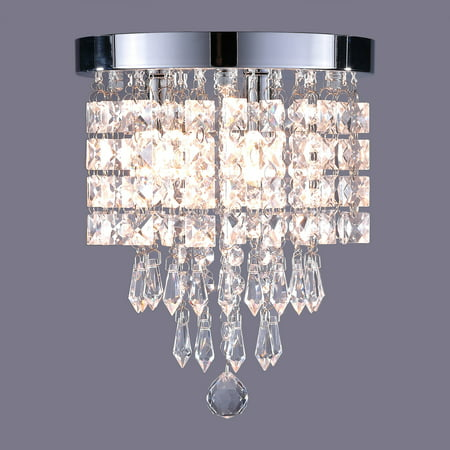 3 Light Modern Crystal Lamp for Study Room Dining Room Bedroom UL Listed ()