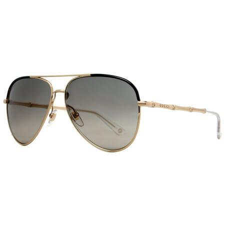 c4fcf50637c Image 1 Source · Gucci Gucci GG 4276 S J5G DX Black Gold Bamboo Aviator  Sunglasses