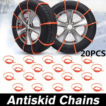 1/10/20Pcs Car SUV Truck Anti-skid Chains For Winter Snow Mud Wheel Tyre Tire Ties Cable Nylon (Canopy Snow Cables)