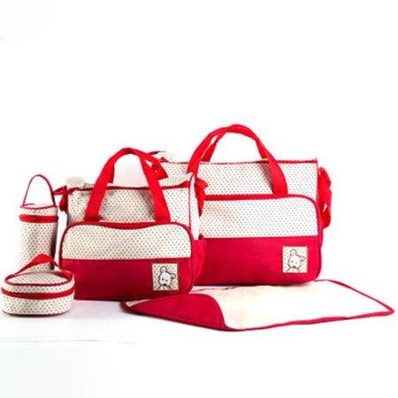 5pcs Baby nappy changing bag set Cute diaper bags Mummy Handbag set