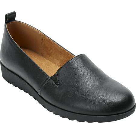 Comfortview Women's Wide Width The June Flat Shoes