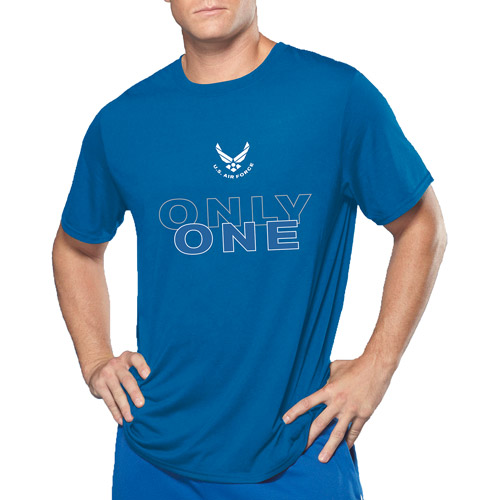 Big Men's Military Officially Licensed Air Force Strong Performance Comfort Wear Graphic Tee, 2XL