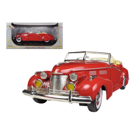 1940 Cadillac Sedan Series 62 Red 1/32 Diecast Car Model by Signature (Signature Model Cars)