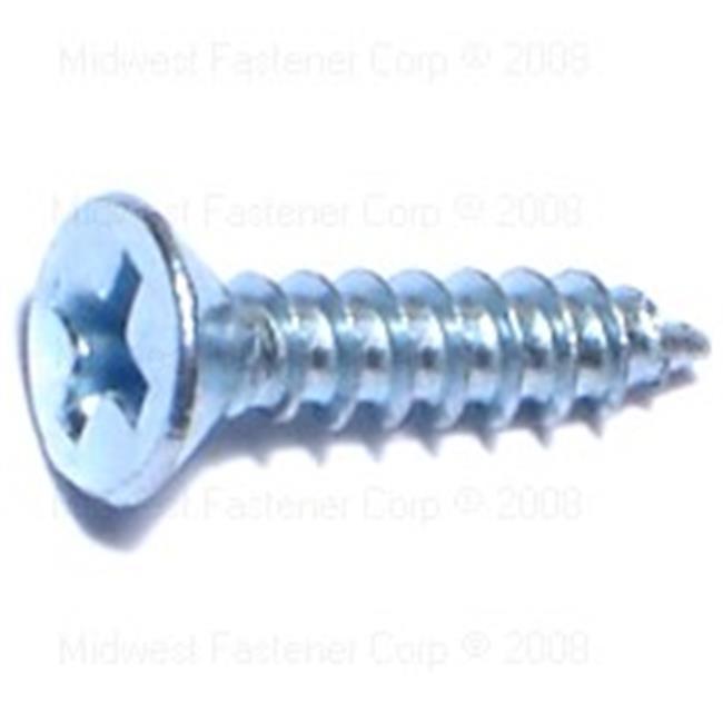 Midwest Fastener MF63647 6 x 0.62 Phillips Flat Sheet Metal Screws - 60 Piece