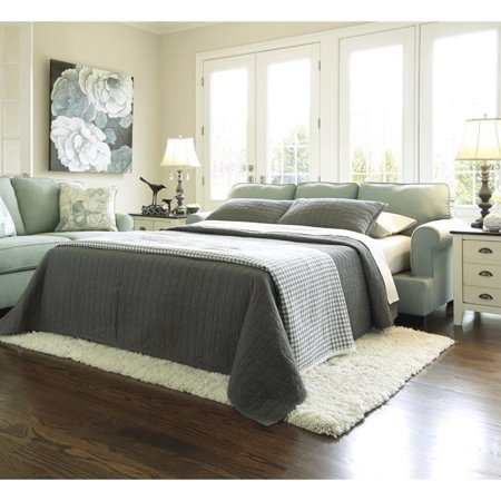 ashley daystar fabric queen size sleeper sofa in seafoam. Black Bedroom Furniture Sets. Home Design Ideas