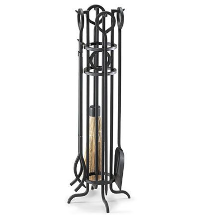 Arts & Crafts Fireplace Tool Set by Plow & Hearth