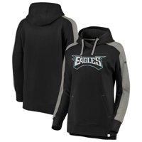 Product Image Philadelphia Eagles NFL Pro Line by Fanatics Branded Women s  Iconic Color Block Pullover Hoodie - Black d9dac4a59