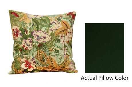 18 d coratif carr coussin vert fonc. Black Bedroom Furniture Sets. Home Design Ideas