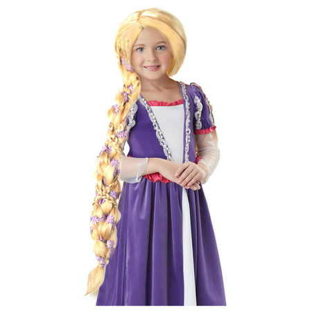 Rapunzel Wig with Flowers](Childrens Rapunzel Wig)