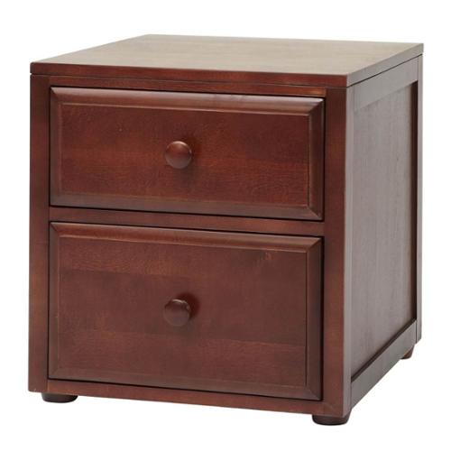 Kids 2 Drawer Wooden Night Stand