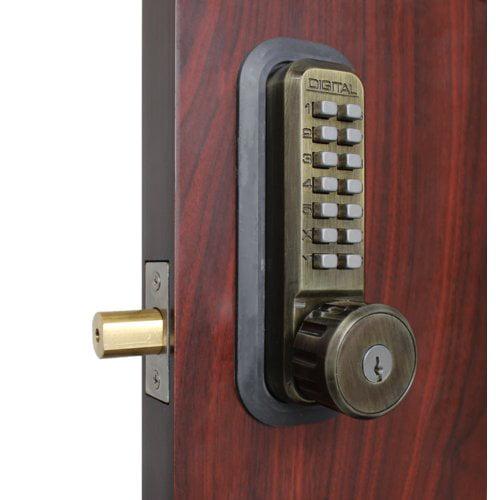 Lockey USA Mechanical Keyless Combination Deadbolt Lock with Key Override