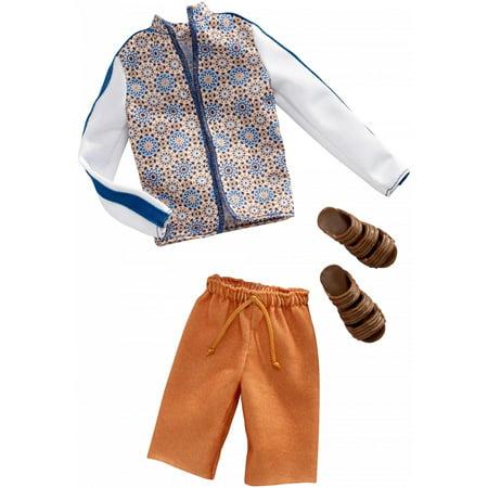 Barbie Ken Track Jacket Fashion Pack with Brown Sandals