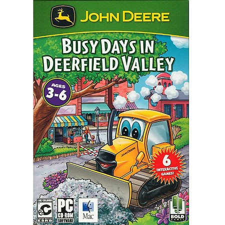 John Deere Busy Days in Deerfield Valley PC CD - 6 Interactive Games (John Deere Video Game)