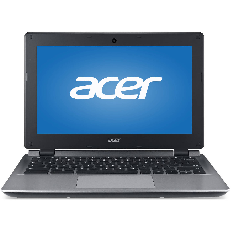 "Acer Black 11.6"" C730 Chromebook PC with Intel Celeron N2840 Processor, 4GB Memory, 16GB eMMC Drive and Chrome"