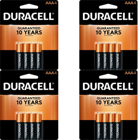 16 Count Duracell AAA Coppertop Alkaline Long Lasting Batteries (4 Packs Of