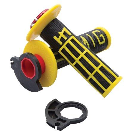 Odi V2 Emig MX Lock-On Grips Black/Yellow - Fits: Honda CRF250R 2004-2018