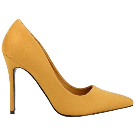 Kali-01 Women Pointed Pointy Toe Stiletto High Heel Slip On Suede Pumps -