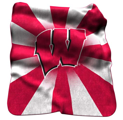 Logo Chair NCAA Wisconsin Raschel Throw