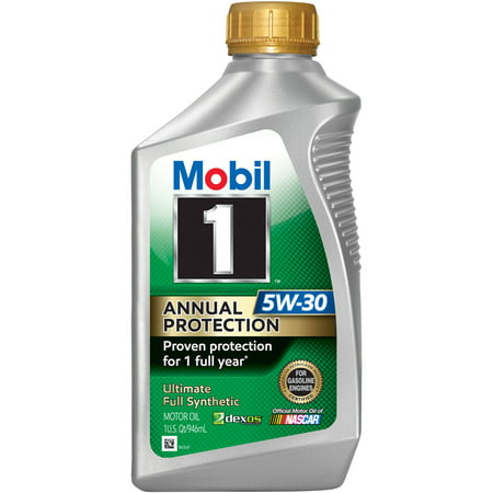 Mobil 1 Annual Protection Full Synthetic Motor Oil 5W-30, 1 Quart
