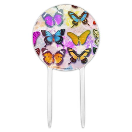 Acrylic Colorful Butterflies Butterfly Design Cake Topper Party Decoration for Wedding Anniversary Birthday Graduation Butterfly Design Cake Knife
