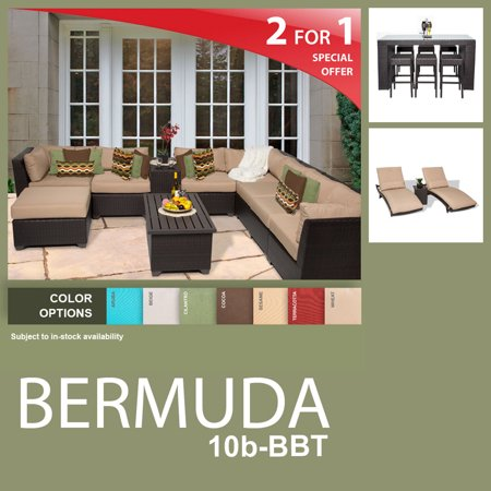 Bermuda 20 Piece Outdoor Wicker Patio Furniture Package Bermuda 10B Bbt