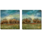 Artistic Home Gallery 'Clearing Sky' by Carol Robinson 2 Piece Painting Print on Wrapped Canvas Set