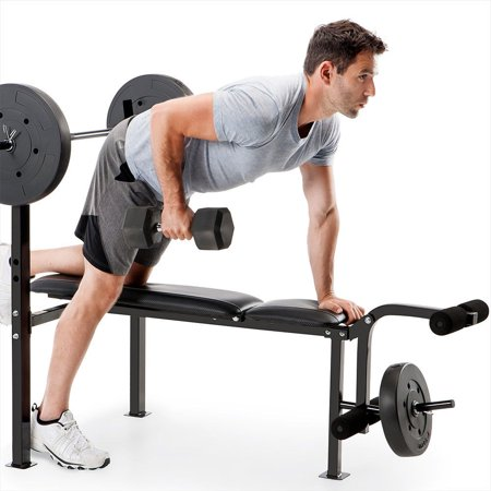 Marcy Pro CB-20111 Standard Adjustable Weight Bench with 80 Pound Weight Set