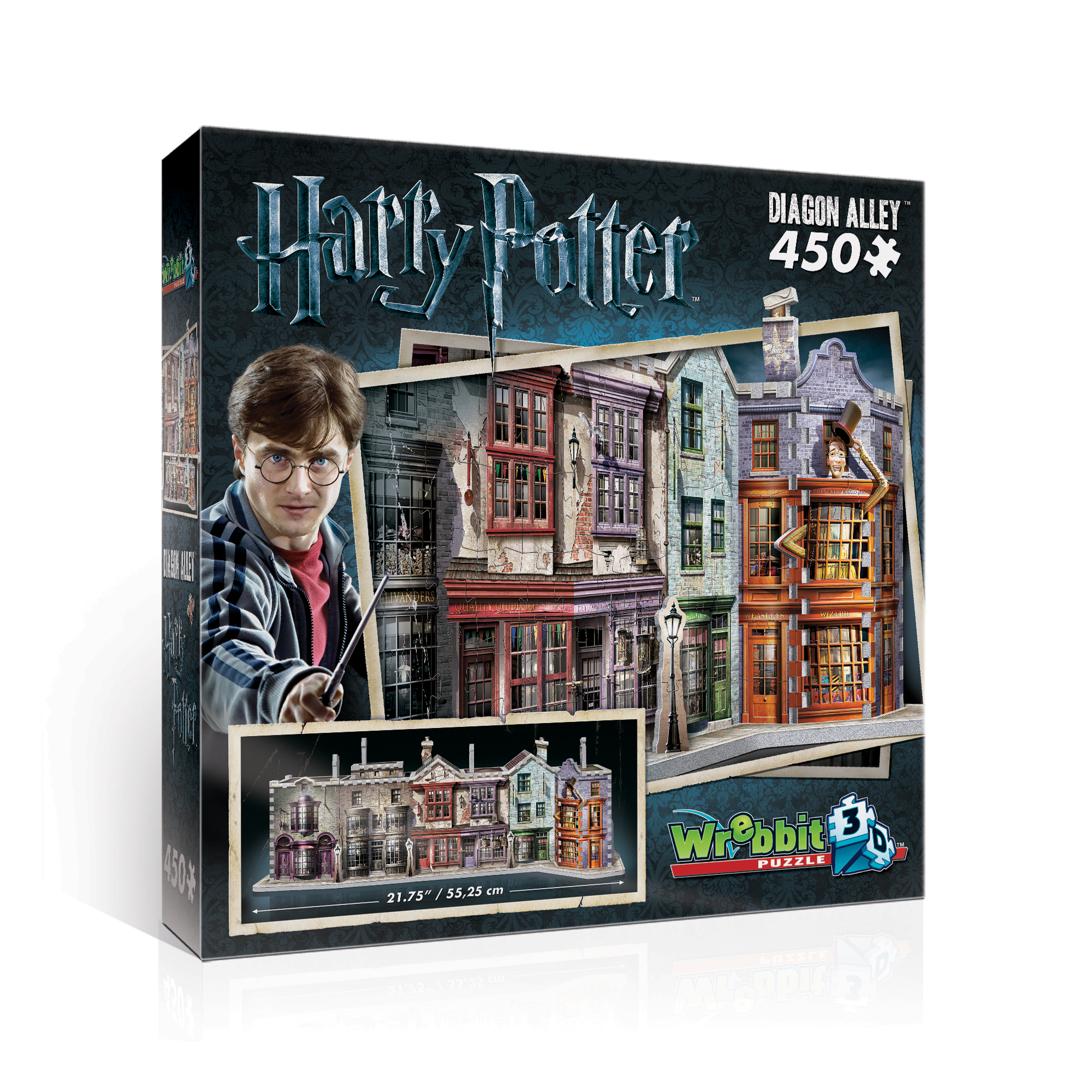 Wrebbit Diagon Alley 450 Piece 3D Puzzle by Wrebbit