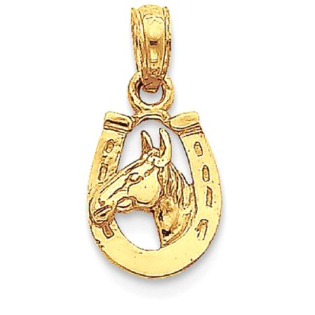 Horseshoe Italian Charm - ICE CARATS 14kt Yellow Gold Horseshoe Horse Head Pendant Charm Necklace Good Luck Italian Horn Animal Fine Jewelry Ideal Gifts For Women Gift Set From Heart