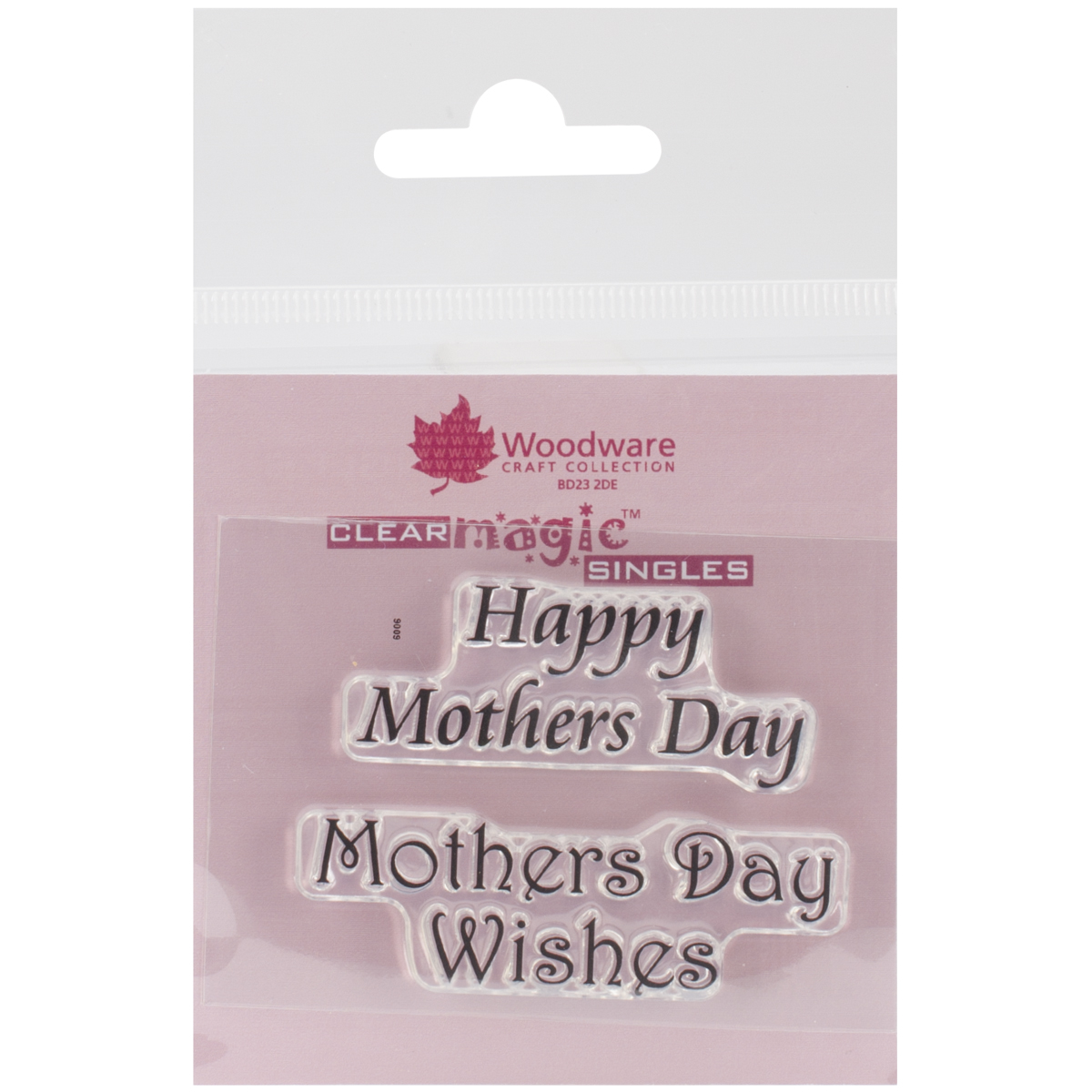 "Woodware Clear Stamps 2.5""X1.75"" Sheet-Happy Mother's Day"
