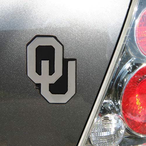 Oklahoma Sooners Chrome Metal Auto Emblem