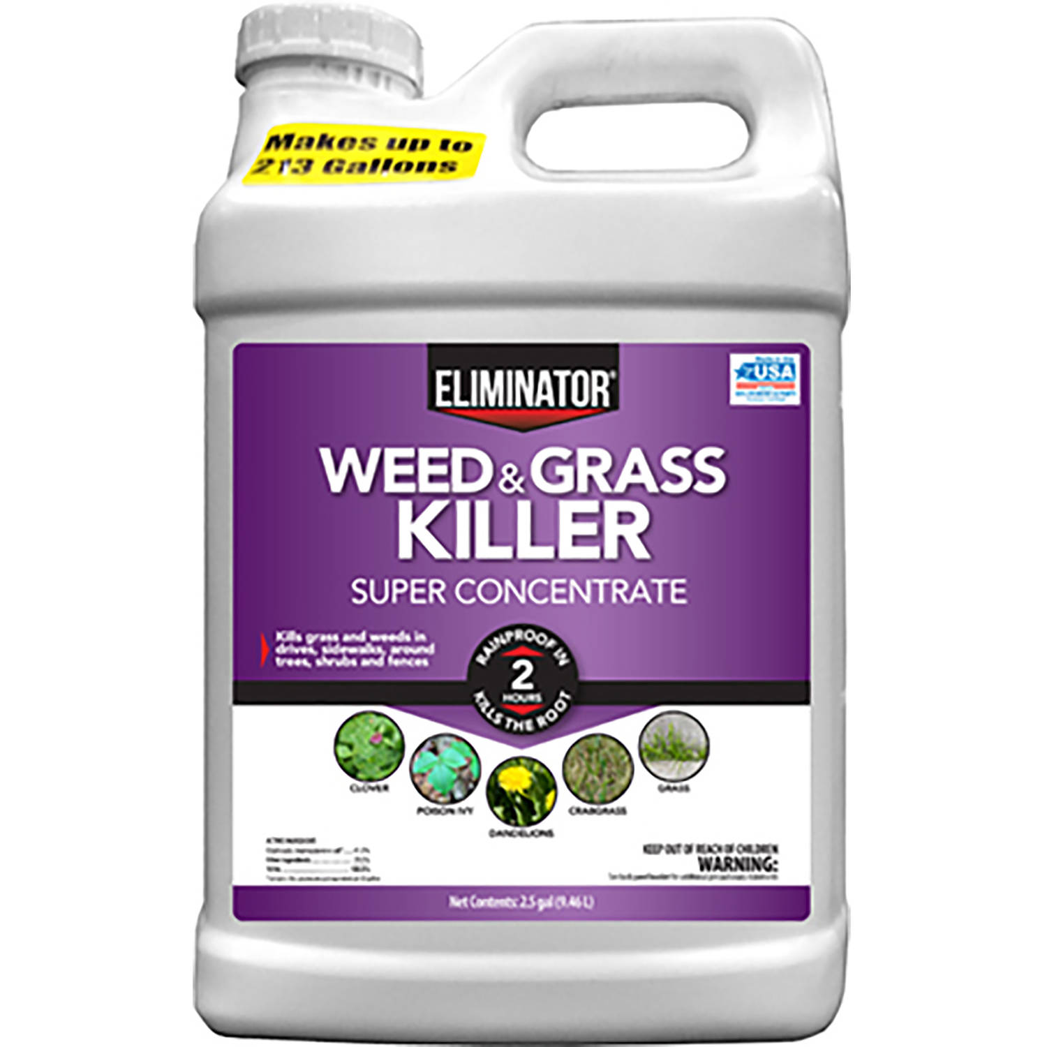 Eliminator Weed and Grass Killer Super Concentrate, 2.5 Gallons