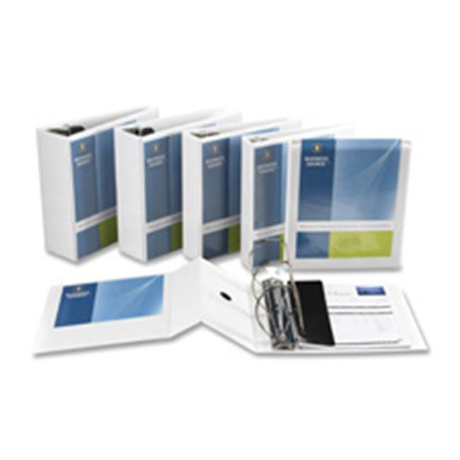 "Business Source Basic D-Ring White View Binders - 3"" Binder Capacity - D-Ring Fastener - Polypropylene - White - 1.70 lb - 1 Each"