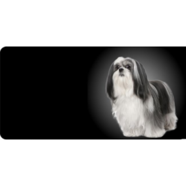 Lhasa Apso Dog Photo License Plate Free Personalization on this plate