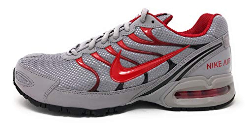 Nike Nike Mens Air Max Torch 4 Running Shoes (12 D(M) US, Atmosphere GreyUniversity Red)