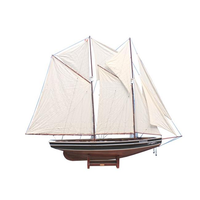 Handcrafted Decor BLUENOSE80 Wooden Bluenose Model Sailboat Decoration, 80 in. by Handcrafted Decor