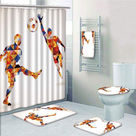 Decor With Football Soccer Players