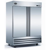 "Heavy Duty Commercial 47"" Solid Stainless Steel Reach-In Refrigerator (2 Door) by SABA"