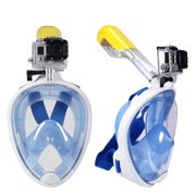 Full Face Snorkel Mask, EpicGadget(TM) 180° GoPro Compatible Snorkel Mask with