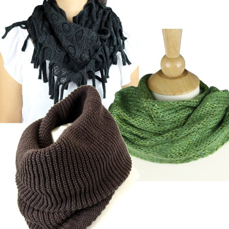 Elistyle Pack Of 3 Women S Warm Traditional Infinity Winter
