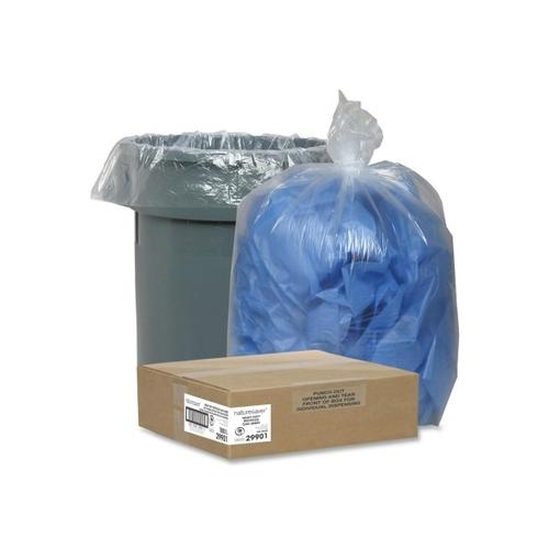 Nature Saver Clear Recycled Trash Can Liner NAT29901