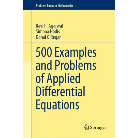 500 Examples and Problems of Applied Differential Equations - (Example Of Something That Weighs 500 Grams)